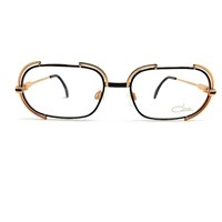 Cazal Vintage 237 Black And Gold Glasses Sunglasses
