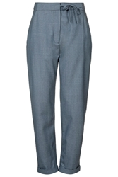 Tie Side Takashi Trousers By Boutique Misty Blue