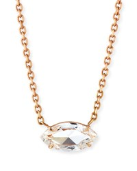 Anita Ko Marquise Cut Diamond Pendant Necklace In 18K Rose Gold