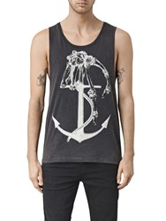 Allsaints Hope Anchor Print Vest Vintage Black