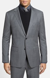 Men's Big And Tall Bonobos 'Foundation' Trim Fit Wool Blazer Grey