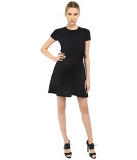 Red Valentino Fit And Flare Dress With Tie Black