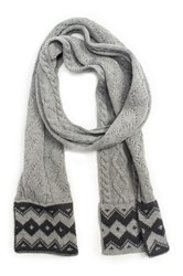 Muk Luks Braided Marl Scarf Gray