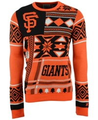 Forever Collectibles Men's San Francisco Giants Patches Christmas Sweater Black Orange White