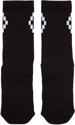 Marcelo Burlon Black Short Cruz Socks