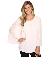 Vince Camuto Chiffon Pleated Sleeve Blouse Hush Pink Women's Blouse