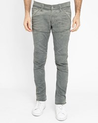 G Star Faded Grey Recycled Plastic Ankle Zip Skinny Jeans