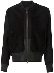 Shearling Bomber Jacket Black