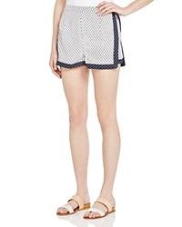 Romeo And Juliet Couture Printed Woven Shorts Compare At 130 White Black