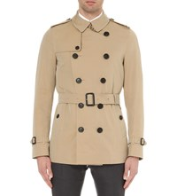 Burberry The Sandringham Short Length Cotton Twill Trench Coat Honey