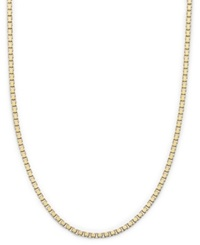 Giani Bernini 24K Gold Over Sterling Silver Necklace 18' Box Chain