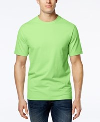 Club Room Men's Big And Tall Solid Crew Neck T Shirt Only At Macy's Lime Oxide