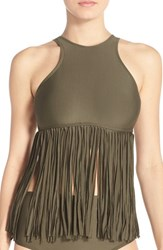 Luxe By Lisa Vogel Women's Luxe 'Fringe Benefits' Tankini Top