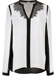 Elie Tahari Colour Block Blouse White