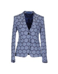 New York Industrie Suits And Jackets Blazers Women Pastel Blue
