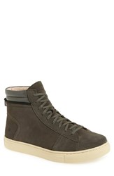 Andrew Marc New York Men's 'Remsen' High Top Sneaker Gun Cream Suede