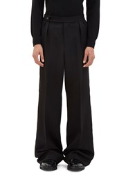 Yang Li Oversized Serged Seam Wide Leg Pants Black