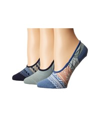Sperry Fair Isle Canoe Liner 3 Pack Blue Women's No Show Socks Shoes