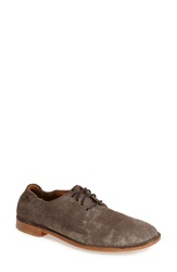 Trask 'Ana' Metallic Suede Oxford Women Pewter Suede