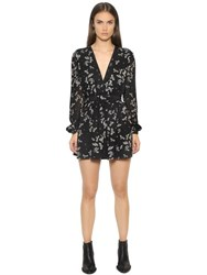 Just Cavalli Eagle Printed Viscose Chiffon Dress