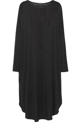Hatch The Drape Stretch Jersey Mini Dress Black