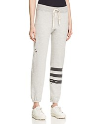 Sundry Distressed Striped Sweatpants 100 Bloomingdale's Exclusive Heather Grey