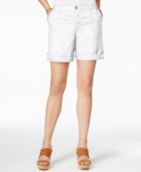 Tommy Hilfiger Relaxed Fit Cargo Shorts Bright White