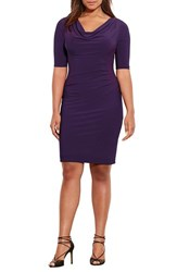 Lauren Ralph Lauren Plus Size Women's Cowl Neck Jersey Dress
