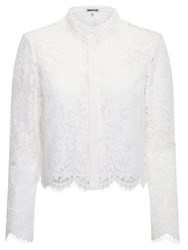 Whistles Chay Lace Shirt Ivory