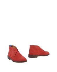 Tremp Ankle Boots Red