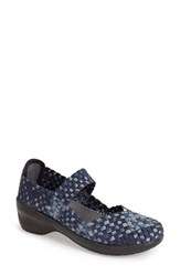 Women's Cobb Hill 'Mantra' Woven Mary Jane Pump Blue Fiesta