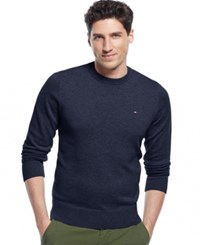 Tommy Hilfiger Signature Solid Crew Neck Sweater Masters Navy
