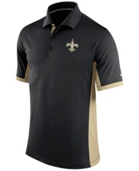 Nike Men's New Orleans Saints Team Issue Polo Black Gold