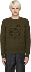 Loewe Green Quilted Mogram Pullover