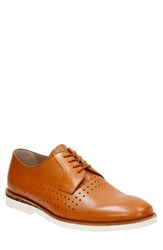 Men's Clarks 'Tulik' Perforated Derby Tan Leather