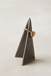 Anthropologie Ceramic Origami Ring Cone Espresso