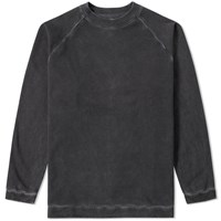 Off White Garment Dyed Crew Sweat Black