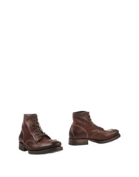 N.D.C. Made By Hand Ankle Boots Maroon