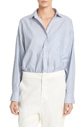 Vince Women's Linen And Cotton Crop Shirt
