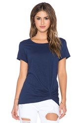 Michael Stars Short Sleeve Crew Neck Tee Blue