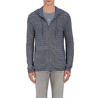 John Varvatos Star U.S.A. Men's Striped Zip Front Hoodie Blue