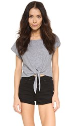 Lanston Cropped Tie Tee Heather