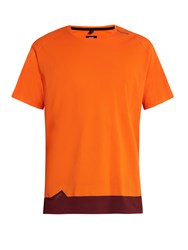 Soar Short Sleeved Mesh Performance T Shirt Orange Multi