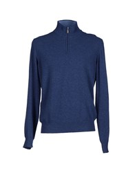 Della Ciana Knitwear Turtlenecks Men Bright Blue