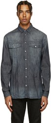 Balmain Pierre Indigo Washed Denim Shirt