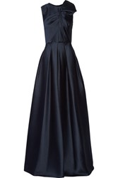 Jason Wu Gathered Satin Crepe Gown Midnight Blue