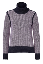 J Brand Angora Blend Textured Knit Turtleneck Pullover