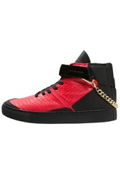 Cayler And Sons Hamachi Hightop Trainers Vintage Black Red Gold