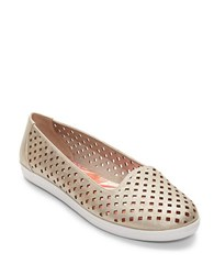 Easy Spirit Dexlee Perforated Flats Light Gold