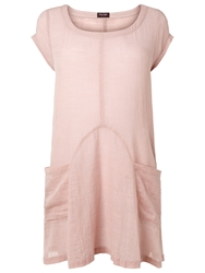 Phase Eight Mallory Linen Blouse Pale Pink